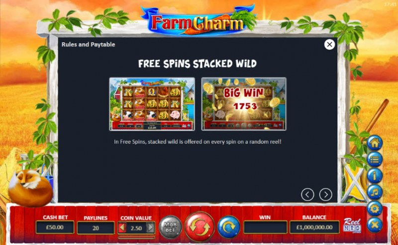 Farm Charm :: Free Spins Stacked Wild