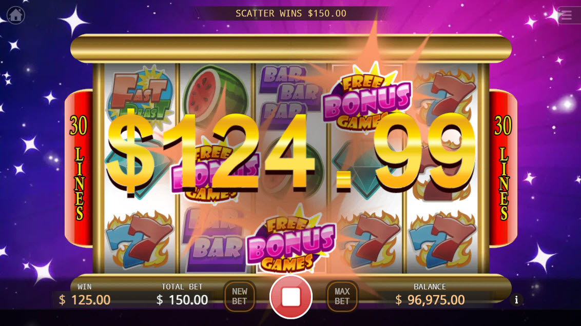 Fast Blast :: Scatter symbols triggers the free spins feature