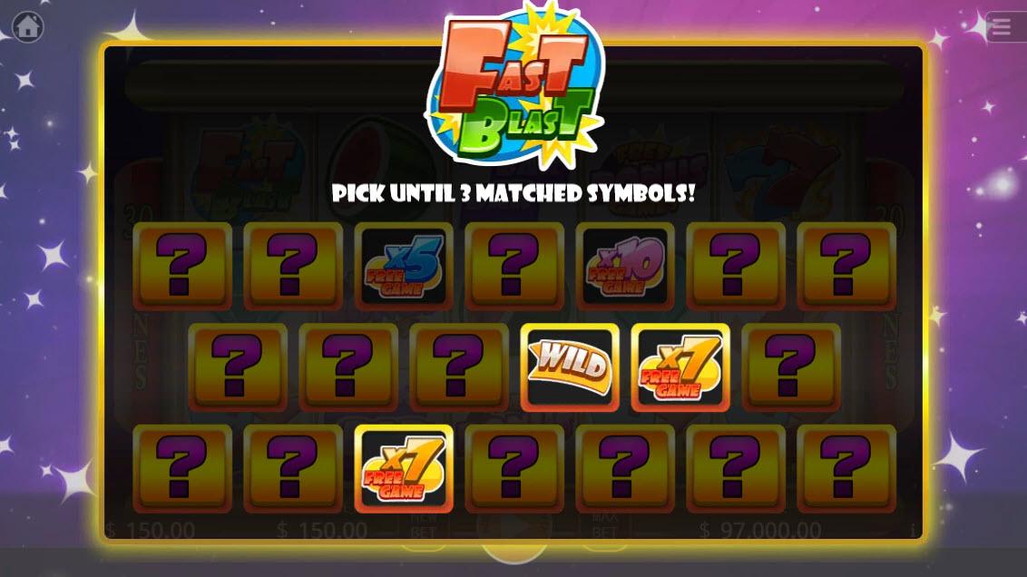 Fast Blast :: Match 3 to win free games