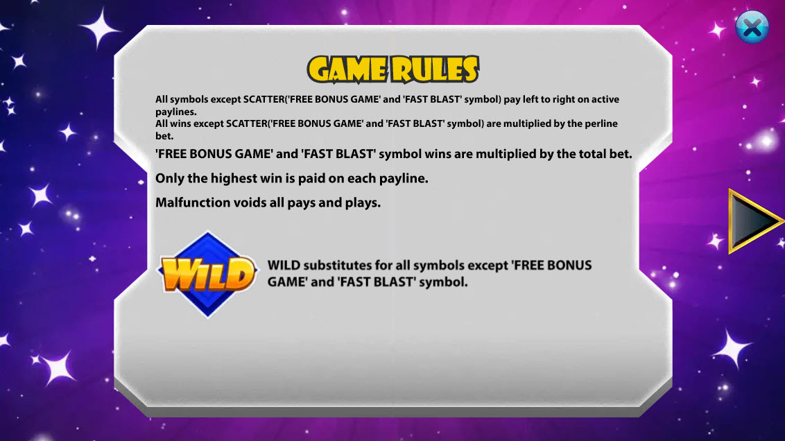 Fast Blast :: Wild Symbols Rules