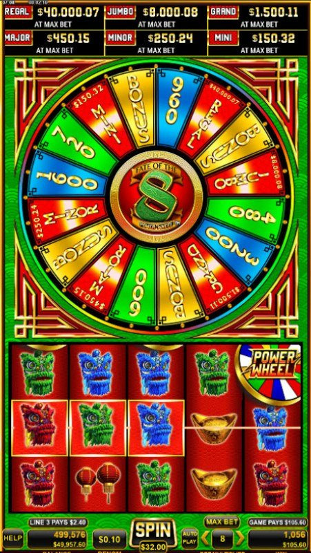 Fate of the 8 Power Wheel :: Multiple winning paylines