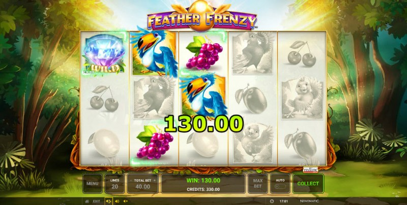 Feather Frenzy :: Three of a kind win