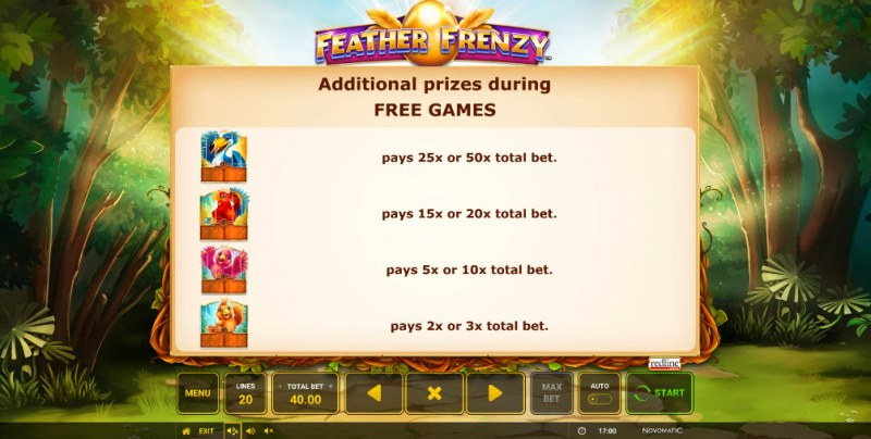 Feather Frenzy :: Free Spins Rules