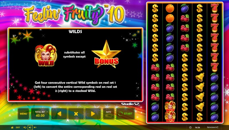 Feelin' Fruity 10 :: Wild and Scatter Rules