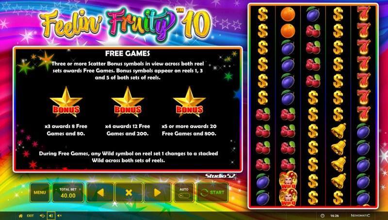 Feelin' Fruity 10 :: Free Game Rules