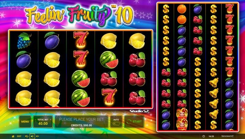 Feelin' Fruity 10 :: Base Game Screen