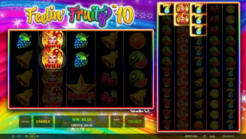 Feelin' Fruity 10 :: Multiple winning paylines