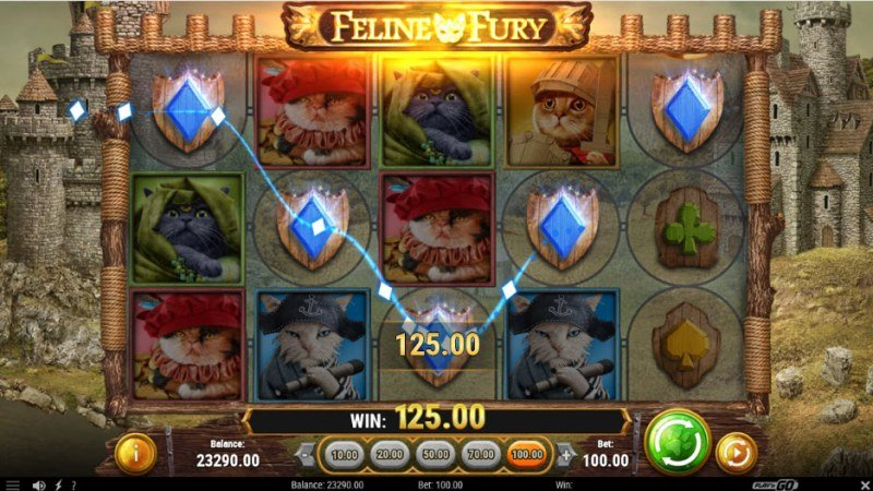 Feline Fury :: A five of a kind win