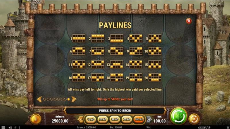 Feline Fury :: Paylines 1-20