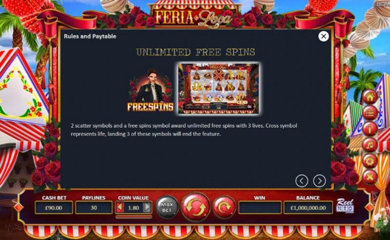 Fera Loca :: Free Spins Rules