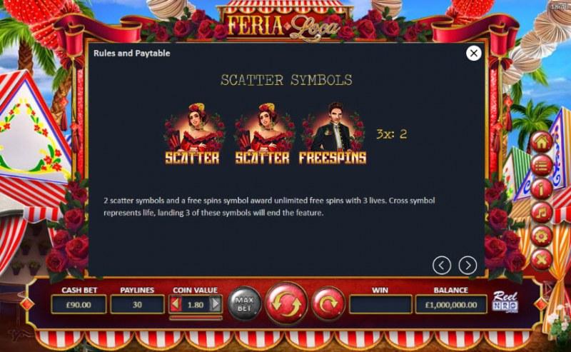 Fera Loca :: Scatter Symbol Rules