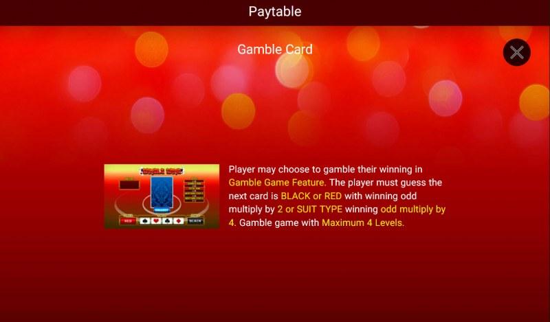 Festive Lion :: Gamble Feature Rules