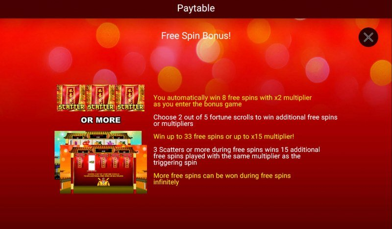 Festive Lion :: Free Spins Rules