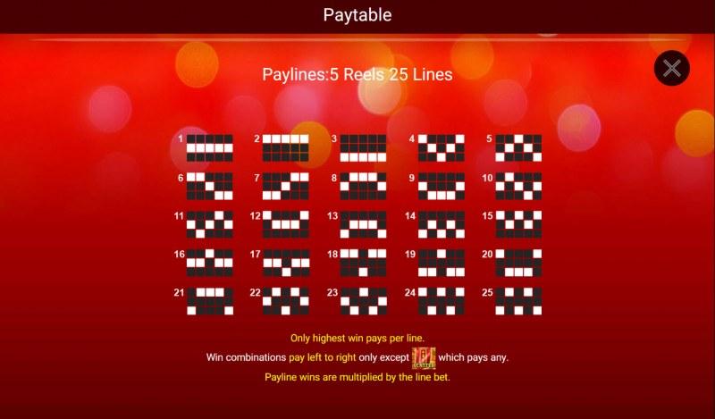 Festive Lion :: Paylines 1-25
