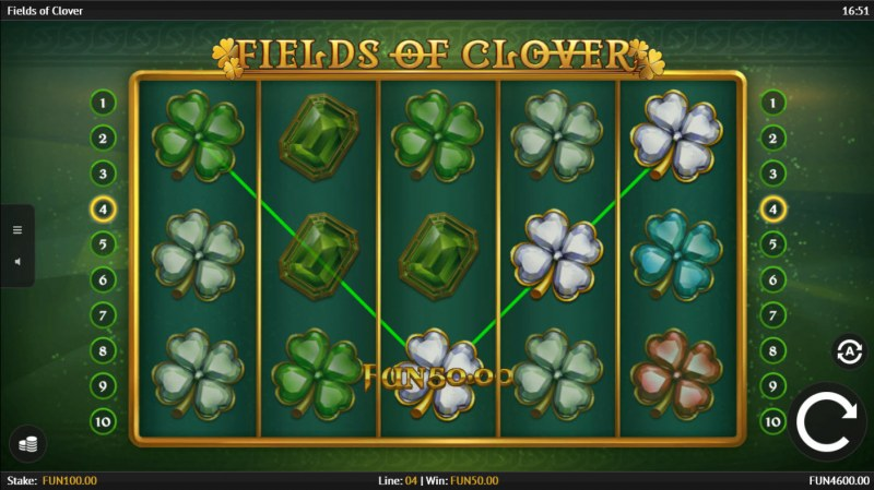 Fields of Clover :: Game Pays In Both Directions
