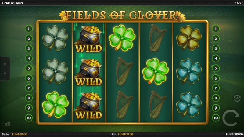 Fields of Clover :: A four of a kind win