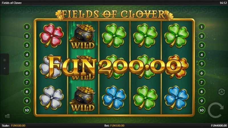 Fields of Clover :: Respin triggers multiple winning paylines