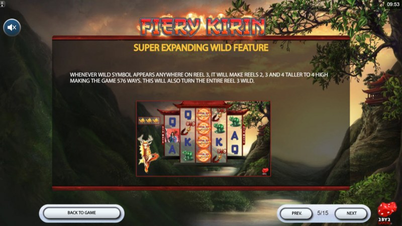 Fiery Kirin :: Expanding Wild feature