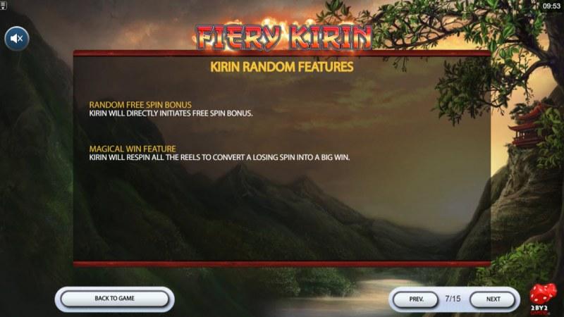 Fiery Kirin :: Random Reel Features