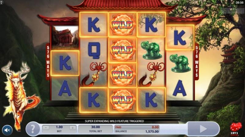 Fiery Kirin :: Multiple winning combinations leads to a big win