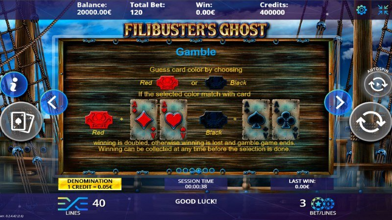 Filibuster's Ghost :: Gamble feature