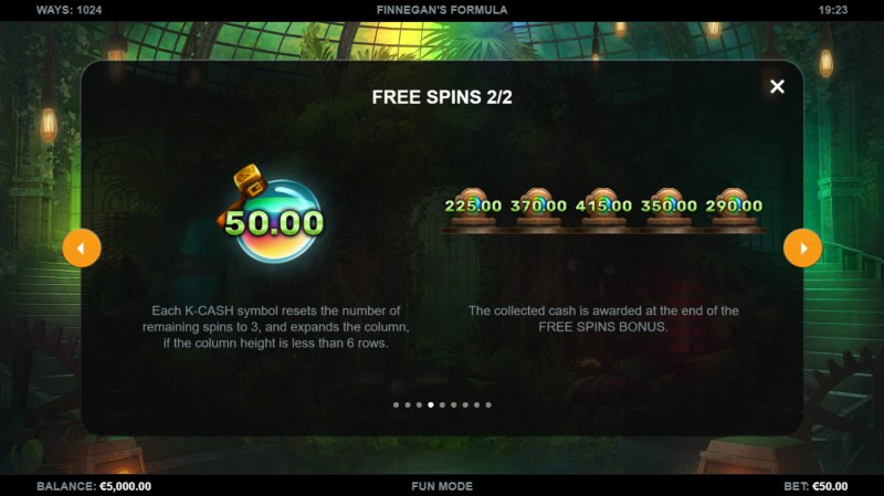 Finnegan's Formula :: Free Spin Feature Rules