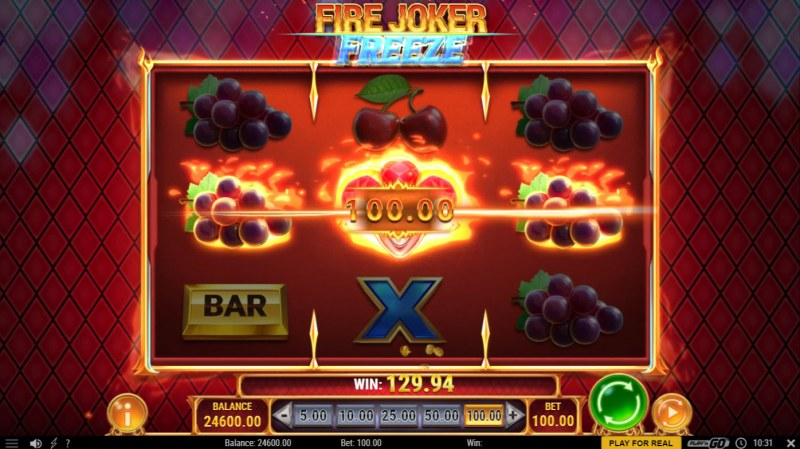 Fire Joker Freeze :: A three of a kind win