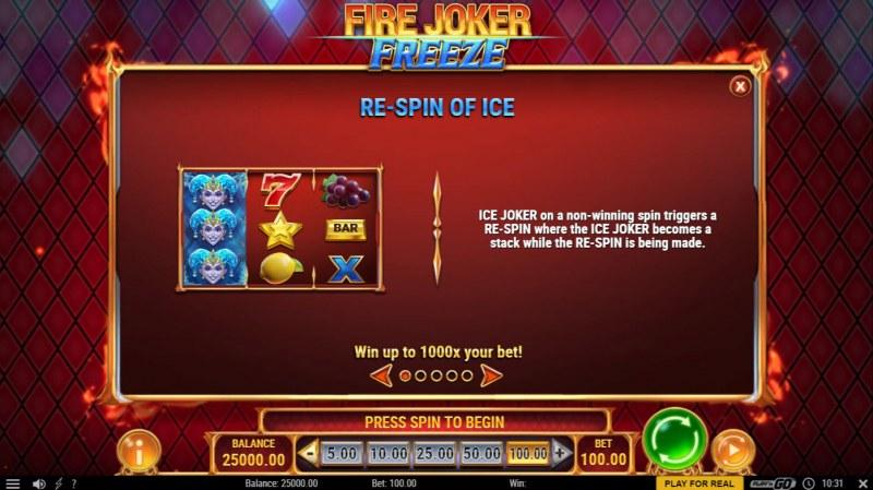 Fire Joker Freeze :: Re-Spin On Ice