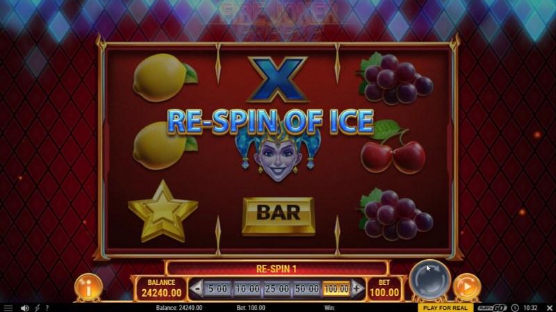 Fire Joker Freeze :: Re-Spin triggered