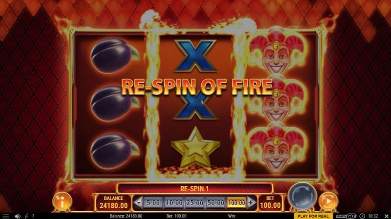 Fire Joker Freeze :: Fire Re-Spin triggered