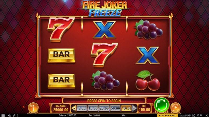 Fire Joker Freeze :: Main Game Board