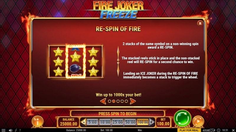 Fire Joker Freeze :: Re-Spin On Fire