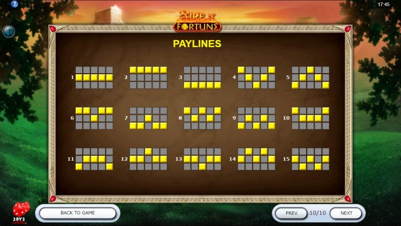 Fire N' Fortune :: Paylines 1-15