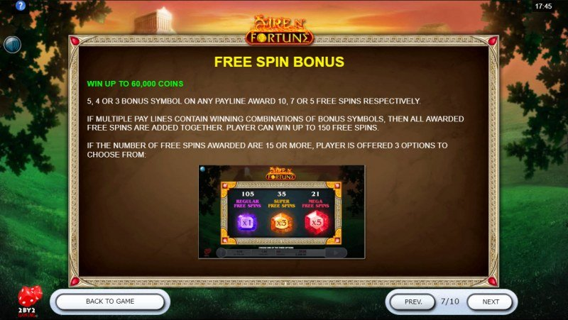 Fire N' Fortune :: Free Spin Feature Rules