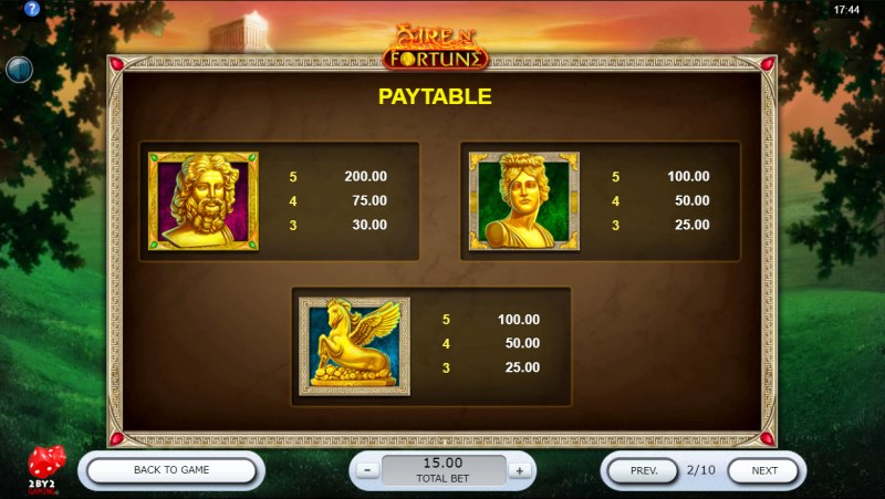 Fire N' Fortune :: Paytable - High Value Symbols