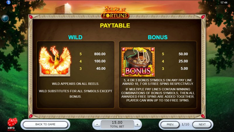 Fire N' Fortune :: Wild and Scatter Rules