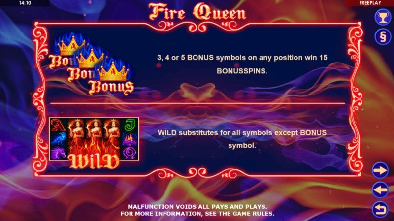Fire Queen :: Wild and Scatter Rules