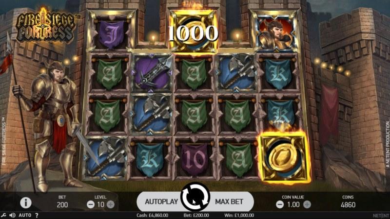 Fire Siege Fortress :: Scatter Win