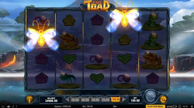 Fire Toad :: Hitting two scatter symbols triggers symbol upgrade feature