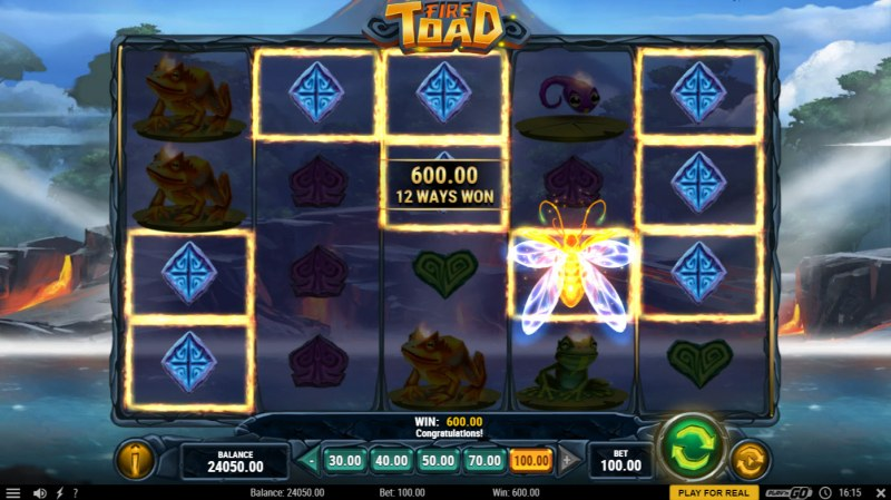 Fire Toad :: A five of a kind win
