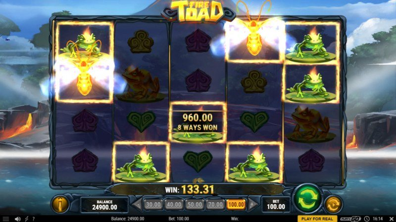 Fire Toad :: Multiple winning combinations