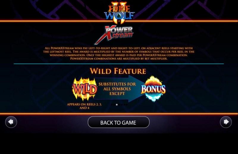 Fire Wolf II :: Wild Symbols Rules