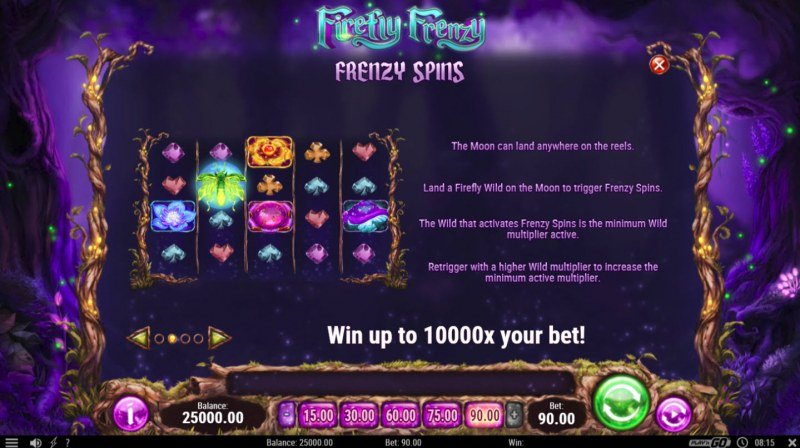 Firefly Frenzy :: Free Spins Rules