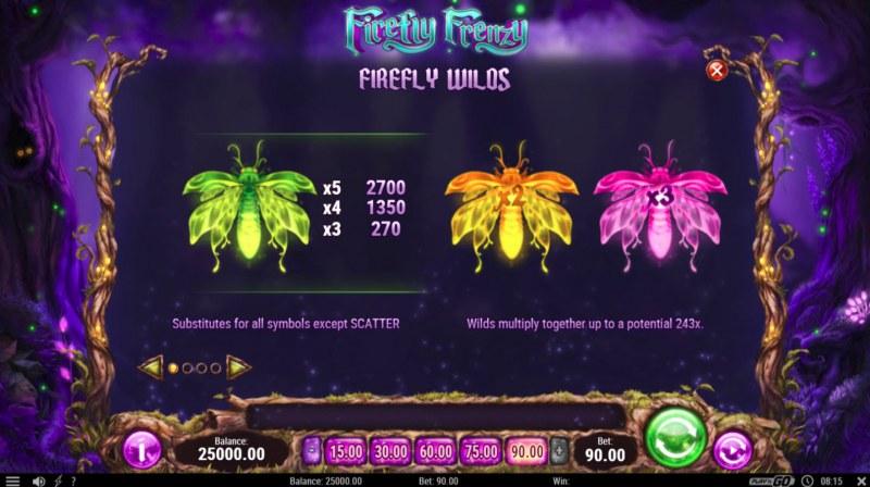 Firefly Frenzy :: Wild Symbols Rules