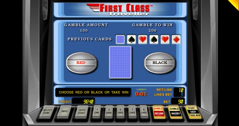 First Class Traveller :: Black or Red Gamble Feature