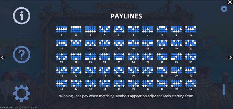 Fisherman's Bounty :: Paylines 1-50