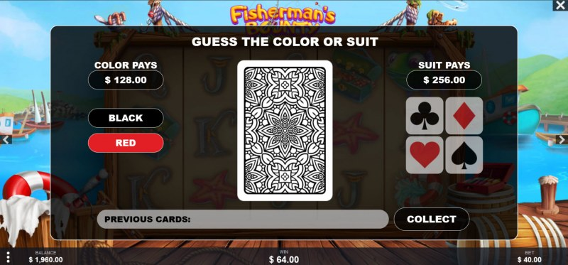 Fisherman's Bounty :: Gamble feature avialable after every win