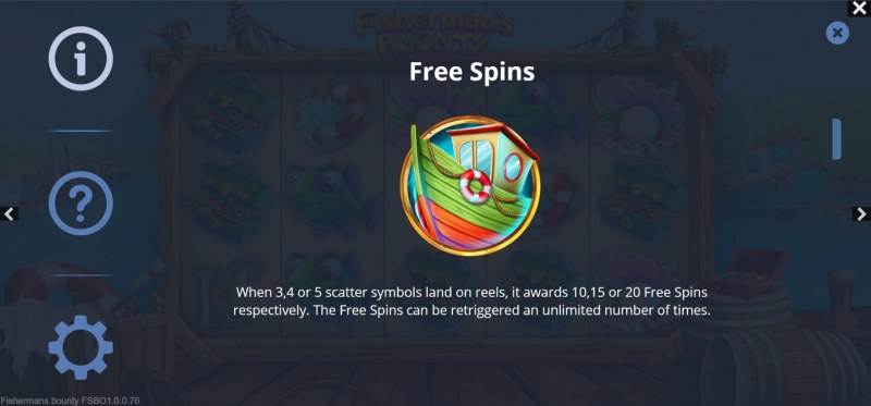 Fisherman's Bounty :: Free Spin Feature Rules