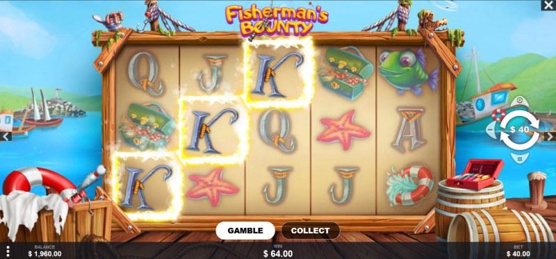 Fisherman's Bounty :: A three of a kind win
