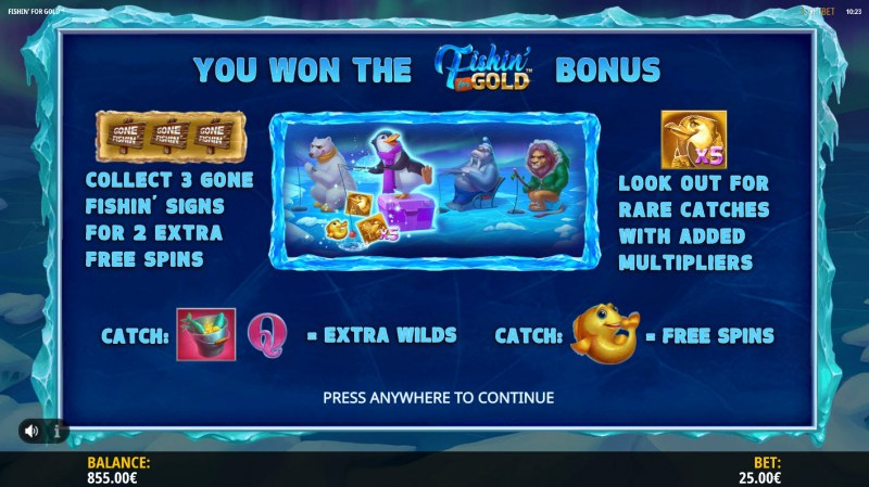 Fishin for Gold :: Free Spins Pick Activated